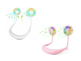 Portable Wearable Neckband Fan with LED