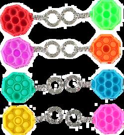 Pop Fidgety Octogon Keychain
