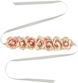 Riqki Women's/Girls Floral Wreath w/Pearls Headband - FW309