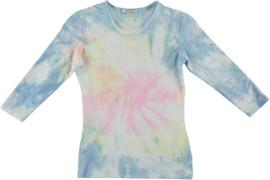 Kiki Riki Women's Wide Neck 3/4 Sleeve Tie Dye T-Shirt