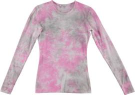 Kiki Riki Women's Wide Neck L/S Tie Dye T-Shirt
