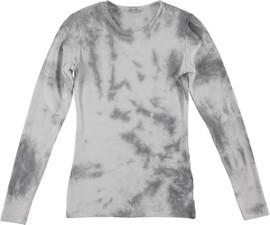 Kiki Riki Women's Wide Neck L/S Tie Dye T-Shirt.