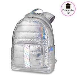 Iridescent Puffer Backpacks w/Stars Truck Strap