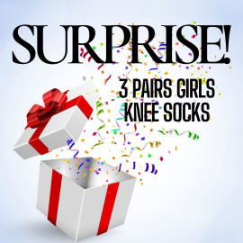 Surprise 3 Pairs Girls Knee Socks