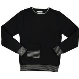 Boys Metallic Striped Border Sweater