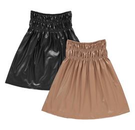Girls Leather Shabbos Skirt