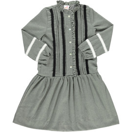Girls Wool Stripe Shabbos Dress