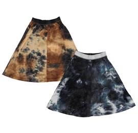 Girls Velour Tie Dye Skirt