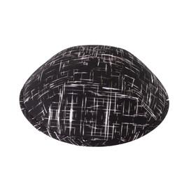Black & White Lines Yarmulka