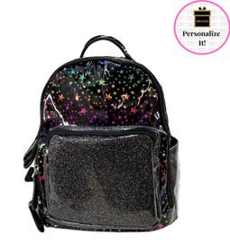 Bari Lynn MINI Rainbow Stars & Glitter Backpack