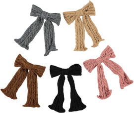 Girls Cable Knit Bow W/tails