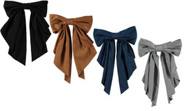 Girls Hair Clip Suede Bow Tails