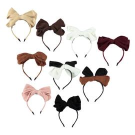 Girls Mohair Bow Headband