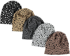 Knit Leopard Ladies Beanie