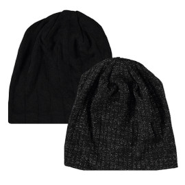 Ribbed Shimmer knit Ladies Beanie