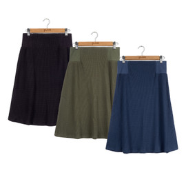 Point Waffle Aline Skirt 25 Inches