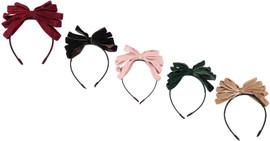 Riqki Girls Two Tone Loopy Knit Bow Headband