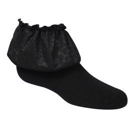 Girls Leopard Print Ruffle Ankle Sock