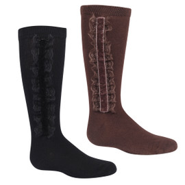 Girls Lace Lined Knee Sock