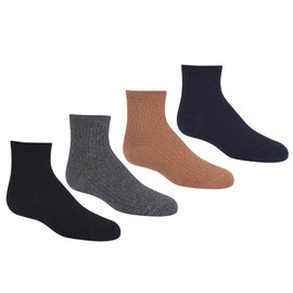 Girls Winter Weave Ankle Sock