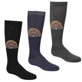Girls Leopard Rainbow Knee Sock