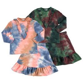 Girls Tie Dye Cotton 2Pc Outfit