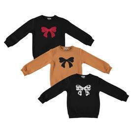 Girls Big Bow Sweater