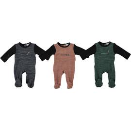 Rib Knit Zipper Baby Stretchy