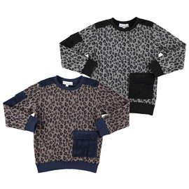 Boys Leopard Printed Corduroy Sweater