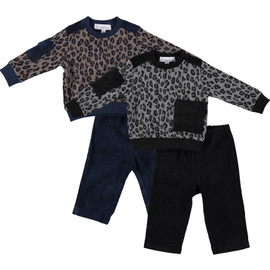 Baby Boys Leopard Print Corduroy 2Pc Outfit