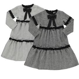 Girls Herringbone Tier Dress