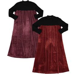 Girls Metallic Velour Shabbos Robe
