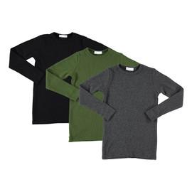 Boys/Girls Ribbed Long Sleeve T-Shirt