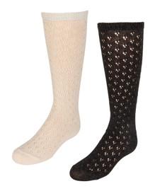 Girls Vintage Crochet Knee Sock