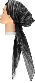 Women Airbrush Lurex Pre-tied Headscarves - HS130