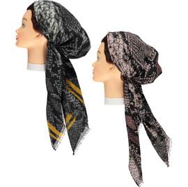 Women Snake Pre-tied Headscarves