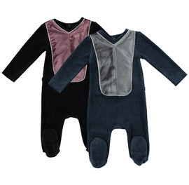 Baby Ribbed Panel Footie
