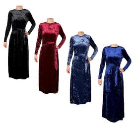Women's Crushed Velvet Shabbos Robe