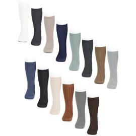 Girls Ribbed Cotton Knee Socks - 2016-2