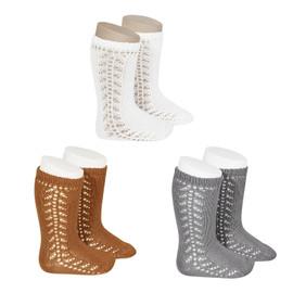 Girls Side Crochet Knee Sock
