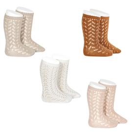 Girls Full Crochet Knee Sock