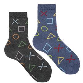 Boys Shapes Print Socks