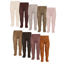 Girls Ribbed Cotton Tights
