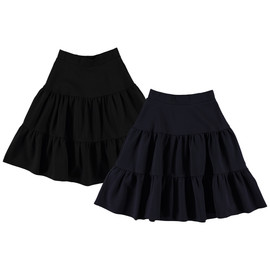 Women's Ponti 3-Tier 25 Inches Skirt