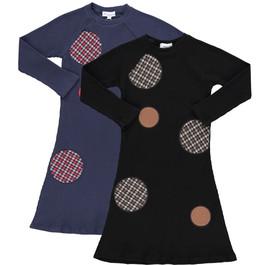 Girls Plaid Dots Weekday Dress