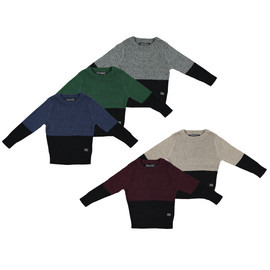 Boys 100% Cotton Colorblock Knit Sweater