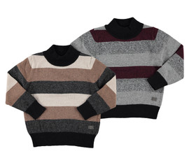 Boys 100% Cotton Stripe Knit Sweater