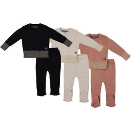 Kids 100% Cotton Metallic Rib Knit 2Pc Set