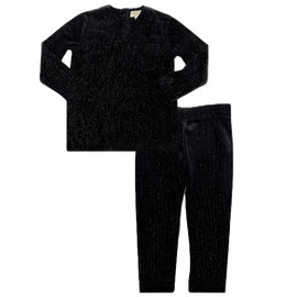 Boys Sparkled Velour Tier 2Pc Shabbos Pajamas