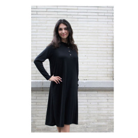 Women's Lea Ribbed Dress w/Buttons